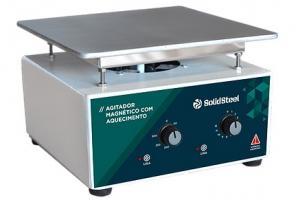 AGITADOR MAGNETICO C/ AQUEC. SSAGa 10L - 220V SOLIDSTEEL - Persoalab
